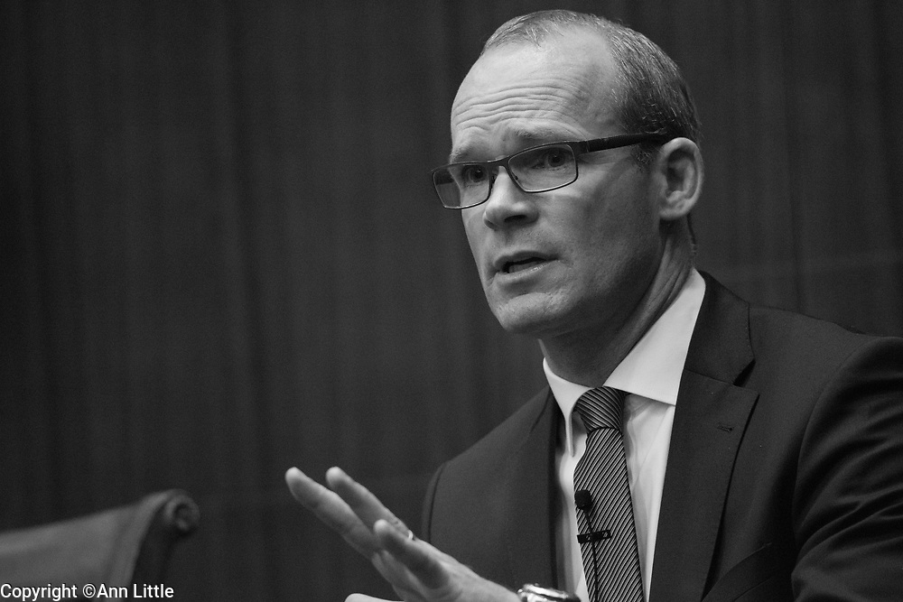 Irish Foreign Affairs Minister Simon Coveney speaks at CSIS in Washington, DC