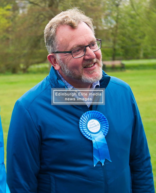 Pictured: David Mundell<br /> <br /> Scottish Tory leader Ruth Davidson and Scottish Secretary David Mundell took to the campaign trail in West Linton today.<br /> <br /> Ger Harley   EEm 13 May 2017