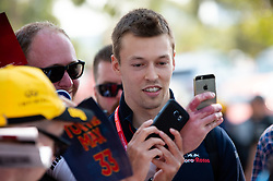 March 16, 2019 - Albert Park, VIC, U.S. - ALBERT PARK, VIC - MARCH 16: Red Bull Toro Rosso Honda driver Daniil Kvyat arrives at The Australian Formula One Grand Prix on March 16, 2019, at The Melbourne Grand Prix Circuit in Albert Park, Australia. (Photo by Speed Media/Icon Sportswire) (Credit Image: © Steven Markham/Icon SMI via ZUMA Press)