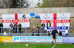 Bristol Rovers flags - Photo mandatory by-line: Neil Brookman/JMP - Mobile: 07966 386802 - 25/10/2014 - SPORT - Football - Dorchester - The Avenue Stadium - Dorchester Town v Bristol Rovers - FA Cup Qualifying with Budweiser