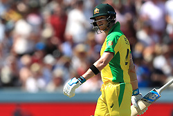 Australia's Steve Smith after being caught out by New Zealand's Martin Guptill (not pictured) during the ICC Cricket World Cup group stage match at Lord's, London.