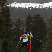 Winter Olympics, Vancouver, 2010. Ji-Hee Mun, Korea, in action during the Women's 7.5 KM Sprint Biathlon at The Whistler Olympic Park, Whistler, during the Vancouver  Winter Olympics. 13th February 2010. Photo Tim Clayton
