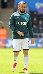 Leon Britton of Swansea City warms up -Mandatory by-line: Nizaam Jones/JMP- 13/05/2018 - FOOTBALL - Liberty Stadium - Swansea, Wales - Swansea City v Stoke City - Premier League