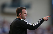 Dougie Freedman, Forest manager during the Sky Bet Championship match between Brighton and Hove Albion and Nottingham Forest at the American Express Community Stadium, Brighton and Hove, England on 7 August 2015.