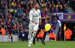 October 28, 2018 - Barcelona, Catalonia, Spain - Sergio Ramos during the match between FC Barcelona and Real Madrid CF, corresponding to the week 10 of the Liga Santander, played at the Camp Nou, on 28th October 2018, in Barcelona, Spain. (Credit Image: © Joan Valls/NurPhoto via ZUMA Press)
