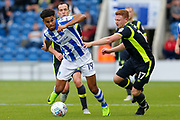 Colchester United's Mikaël Mandron(19) on the attack during the EFL Sky Bet League 2 match between Colchester United and Carlisle United at the Weston Homes Community Stadium, Colchester, England on 14 October 2017. Photo by Phil Chaplin