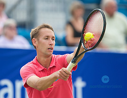 LIVERPOOL, ENGLAND - Friday, June 21, 2013: Simon Roberts during Day Two of the Liverpool Hope University International Tennis Tournament at Calderstones Park. (Pic by David Rawcliffe/Propaganda)