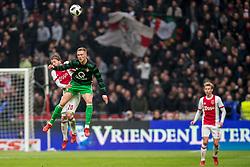 21-01-2018 NED: AFC Ajax - Feyenoord, Amsterdam<br /> Ajax was met 2-0 te sterk voor Feyenoord / Lasse Schone #20 of AFC Ajax, Nicolai Jorgensen #9 of Feyenoord
