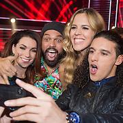 NLD/Amsterdam/20131129 - The Voice of Holland 2013, 3de show, Jill Helena, Vince Irie, Jennifer Lynn en Ali B.