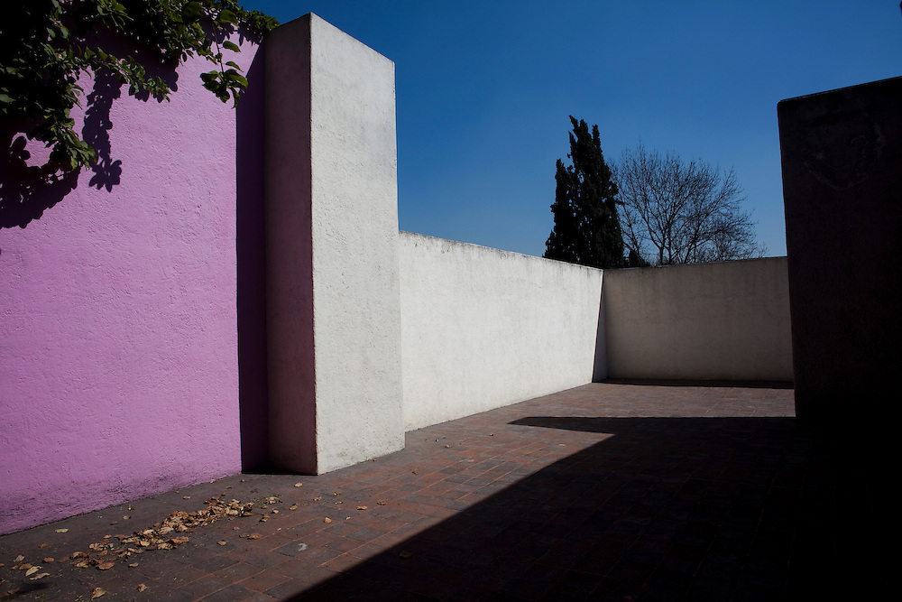 On the terrace of the Casa Luis Barragan.