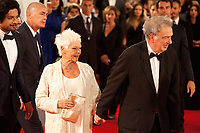 Ali Fazal, Judi Dench, Stephen Frears at the premiere of the film Victoria & Abdul at the 74th Venice Film Festival, Sala Grande on Sunday 3 September 2017, Venice Lido, Italy.