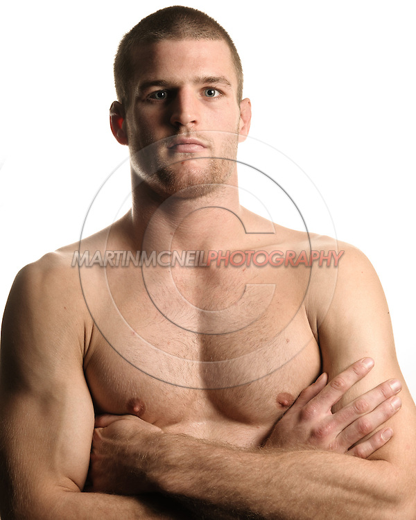 A portrait of mixed martial arts athlete Pascal Krauss