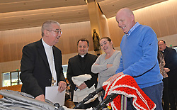 Archbishop Diarmuid Martin meeting families at the &lsquo;Celebrating Family day held Knock recently.<br />