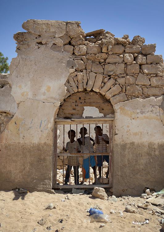 People Inside A Former Ottoman Empire House, Berbera Area, Somaliland