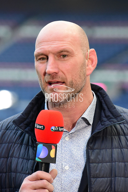 Lawrence Dallaglio before the European Rugby Challenge Cup match between Gloucester Rugby and Stade Francais at BT Murrayfield, Edinburgh, Scotland on 12 May 2017. Photo by Kevin Murray.
