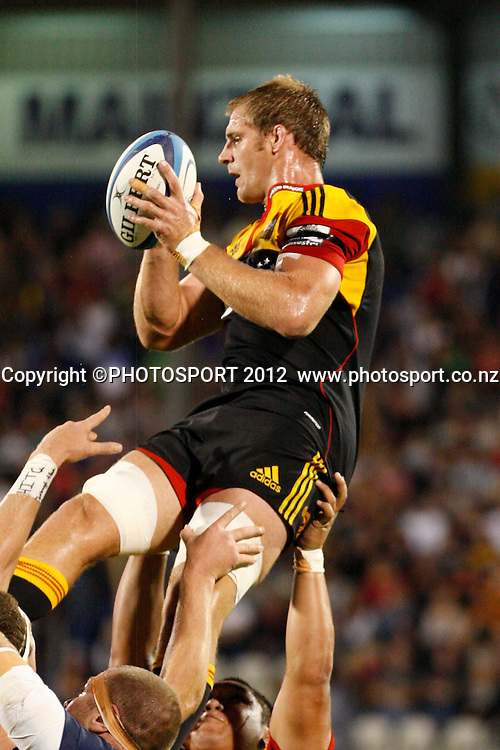 Chiefs Craig Clark in action during their game at Baypark Stadium, Mt Maunganui, New Zealand. Friday,16 March 2012. Photo: Dion Mellow/photosport.co.nz
