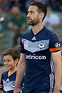 Melbourne Victory midfielder Carl Valeri (21) walks out at the Hyundai A-League Round 7 soccer match between Melbourne Victory v Adelaide United at Marvel Stadium in Melbourne, Australia.