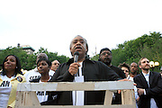 l to r: Laura Harper-Paultre, Nicole Paultre-Bell, Rev. Al Sharpton and Sean Bell's Father, William Bell at the Critical Mass and The National Action Network(NAN) join forces for The Critical Mass monthly civil disobedience ride to protest the Not Gulity verdict of NYPD shooting death of Sean Bell, and critically injuring Joseph Guzman and Trent Benefield at 14th Streeet Union Square on May 30, 2008 ..Critical Mass is an event typically held on the last Friday of every month in cities around the world where bicyclists and other self-propelled commuters take to the streets en masse. While the ride was originally founded with the idea of drawing attention to how unfriendly the city was to bicyclists,[1] the leaderless structure of Critical Mass makes it impossible to assign it any one specific goal. In fact, the purpose of Critical Mass is not formalized beyond the direct action of meeting at a set location and time and traveling as a group through city or town streets.
