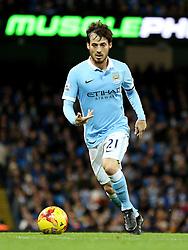David Silva of Manchester City  - Mandatory byline: Matt McNulty/JMP - 01/12/2015 - Football - Etihad Stadium - Manchester, England - Manchester City v Hull City - Capital One Cup - Quarter-final