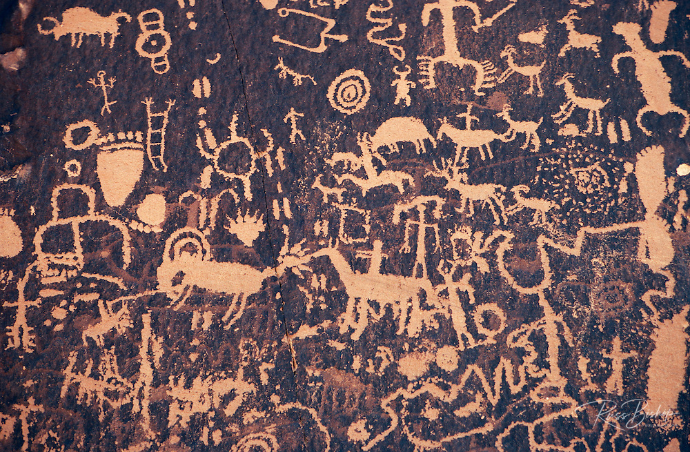 Petroglyphs on Newspaper Rock, Newspaper Rock State Park, Utah