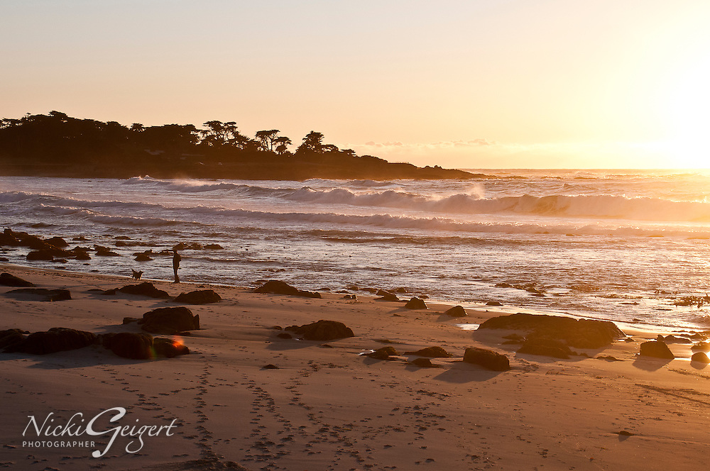 California beach at sunset. Golden sunset. Landscapes and Seascapes wall art. Fine art photography prints for sale.