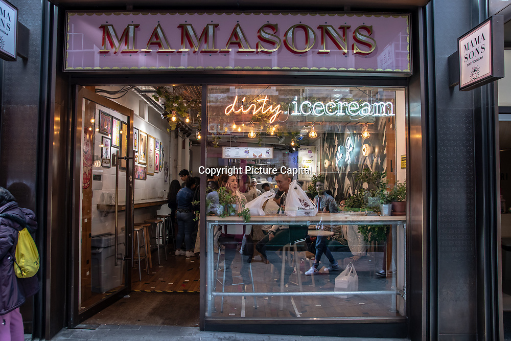 Mamasons in London Chinatown Sweet Tooth Cafe and Restaurant at Newport Court and Garret Street on 15 June 2019, UK.