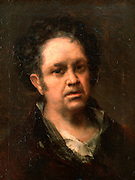 SPAIN, MADRID, PRADO MUSEUM 'Self-Portrait of Goya' painted in 1815 by Francisco de Goya (1746-1828)