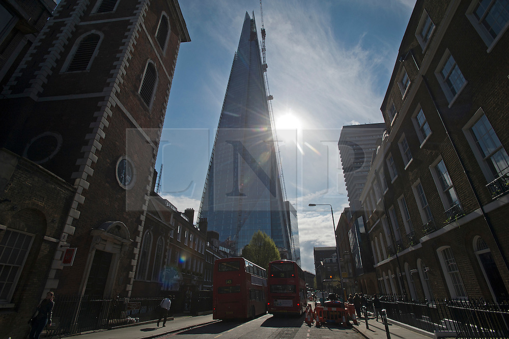 © Licensed to London News Pictures. 21/04/2012. London, UK. General view of The Shard building in London taken from Southwark on April 21, 2012, which is now close to completion. Photo credit : Ben Cawthra/LNP