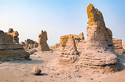 Jiaohe ruined city in Turpan, Xinjiang, China
