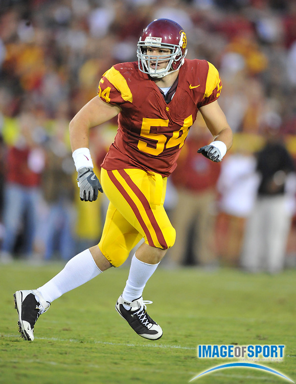 Nov 1, 2008; Los Angeles, CA, USA; Southern California Trojans linebacker Chris Galippo (54) during 56-0 victory over the Washington Huskies at the Los Angeles Memorial Coliseum.