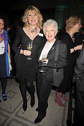Left to right, AMANDA ROSS and JUNE WHITFIELD at the Orion Publishing Group Author Party held at the V&A, London on 18th February 2009.