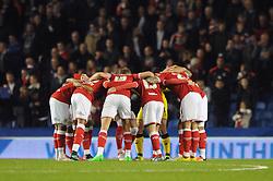 Bristol City players huddle before the game - Mandatory byline: Dougie Allward/JMP - 07966 386802 - 20/10/2015 - FOOTBALL - American Express Community Stadium - Brighton, England - Brighton v Bristol City - Sky Bet Championship