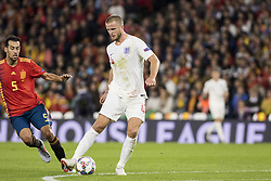 October 15, 2018 - Seville, Spain - ERIC DIER of England (L ) in action during the UEFA Nations League Group A4 soccer match between Spain and England at the Benito Villamarin Stadium (Credit Image: © Daniel Gonzalez Acuna/ZUMA Wire)