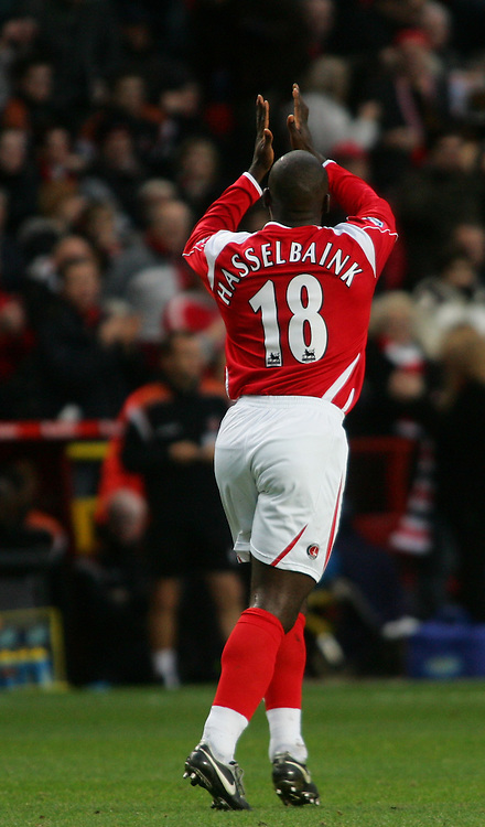 London, England - Saturday, January 13, 2007: Charlton Athletic's Jimmy-Floyd Hasselbaink against Middlesbrough during the Premiership match at the Valley. (Pic by Chris Ratcliffe/Propaganda)