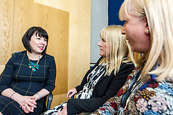 Pictured: Petitioners Olive McIlroy and Elaine Holmes discuss the health problems associated with the use of the mesh with Monica Lennon, MSP.<br /> Thousands of Scottish women have been fitted with polypropylene transvaginal mesh to treat pelvic organ prolapse or stress urinary incontinence. As a result women in every Scottish constituency have been severely injured or permanently disabled following this procedure, some have lost organs, many their careers and their relationships.&nbsp; The women and their families  are asking MSPs to sign a pledge <br /> <br /> Ger Harley | EEm 16 March 2017