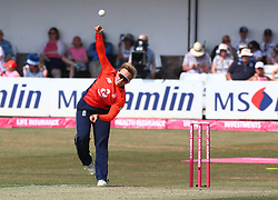 July 1, 2018 - London, Greater London, United Kingdom - Danielle Hazell of England Women.during International Twenty20 Final match between England Women and New Zealand Women  at The Cloudfm County Ground, Chelmsford, England on 01 July 2018. (Credit Image: © Kieran Galvin/NurPhoto via ZUMA Press)