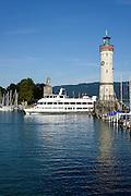Hafen von Lindau, Bodensee, Bayern, Deutschland