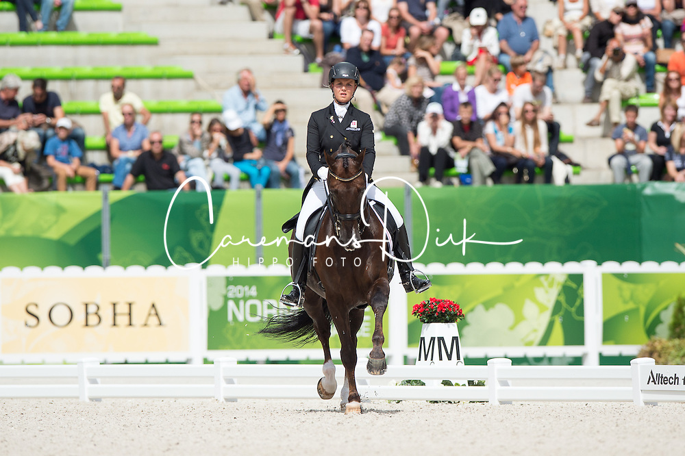 Anna Kasprzak, (DEN), Donnperignon - Freestyle Grand Prix Dressage - Alltech FEI World Equestrian Games™ 2014 - Normandy, France.<br /> © Hippo Foto Team - Jon Stroud<br /> 25/06/14