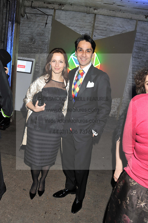 FRANCOIS LE TROQUER MD of Cartier and LIUDMILA LE TROQUER at the Contemporary Art Society's Gala evening held at the Farmiloe Buildings, St.John Street, London EC1 on 29th February 2012.
