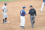 Ole Miss' Mike Bianco argues a call vs. Tennessee at Oxford-University Stadium in Oxford, Miss. on Saturday, May 12, 2012.