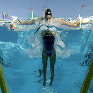 USA's Katie Hoff swims in the women's 200m Individual Medley semi-final at the FINA World Championships in Montreal, Canada Sunday 24 July, 2005.