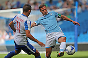 SS Lazio's Stefan Radu (Captain) during the Pre-Season Friendly match between Brighton and Hove Albion and SS Lazio at the American Express Community Stadium, Brighton and Hove, England on 31 July 2016.