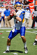 San Jose State Spartans' Matt Faulkner (7) passes the ball down the field during the 57-3 loss to Stanford University (7) in Palo Alto, Calif., Sept. 3, 2011.  (Spartan Daily/Stan Olszewski)