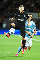 Italian midfielder Marco Verratti of Paris Saint Germain in action during the UEFA Champions League Group A football match between Paris Saint Germain and Malmo FF on September 15, 2015 at Parc des Princes stadium in Paris, France. Photo Jean Marie Hervio / Regamedia / DPPI
