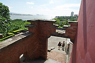 Nice views of the river and out to the ocean from Fort San Domingo ???, in Tamshui, Taiwan.