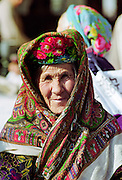 Local woman wearing traditional clothing in Samarkand, Uzbekistan