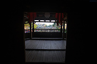 The interior of the Japanese Covered Bridge in Hoi An, Vietnam