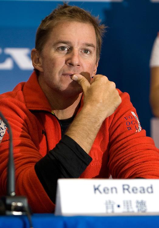 06FEB09 PUMA Ocean Racing's skipper Ken Read at the Qingdao In Port Race Skippers' Press Conference