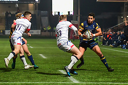 Bryce Heem of Worcester Warriors in action  - Mandatory by-line: Craig Thomas/JMP - 03/11/2017 - RUGBY - Sixways Stadium - Worcester, England - Worcester Warriors v Sale Sharks - Anglo Welsh Cup