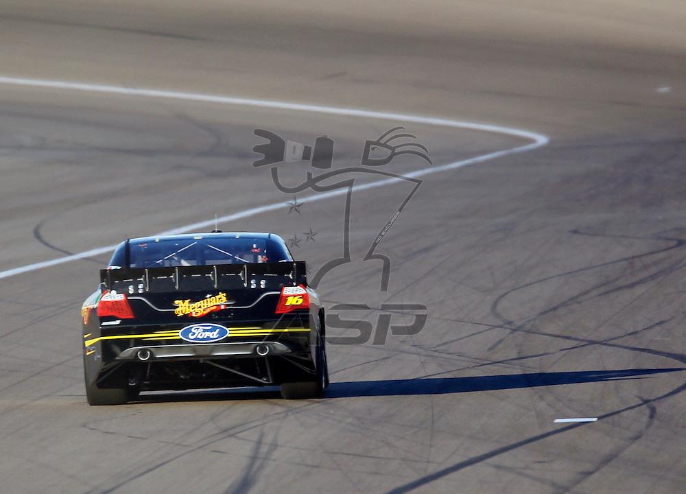 LAS VEGAS, NV - MAR 09, 2012:  Greg Biffle (16) qualifies for the Kobalt Tools 400 race at the Las Vegas Motor Speedway in Las Vegas, NV.